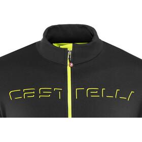 Castelli Fondo Full-Zip Jersey Hombre, light black/yellow fluo
